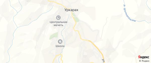 Карта села Уркараха в Дагестане с улицами и номерами домов