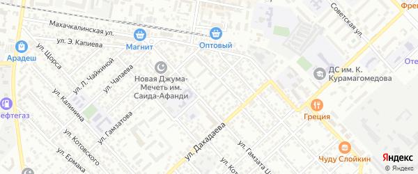 Октябрьская улица на карте Каспийска с номерами домов