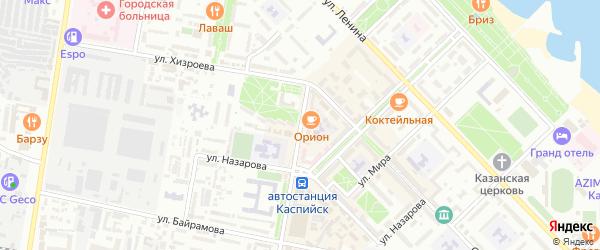 Улица Орджоникидзе на карте Каспийска с номерами домов