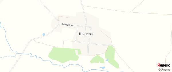 Карта села Шинеры в Чувашии с улицами и номерами домов