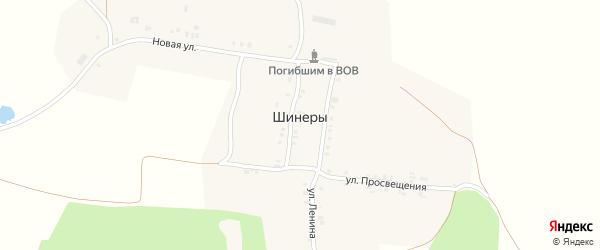 Односторонняя улица на карте села Шинеры с номерами домов