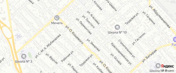 Рабочая улица на карте Каспийска с номерами домов