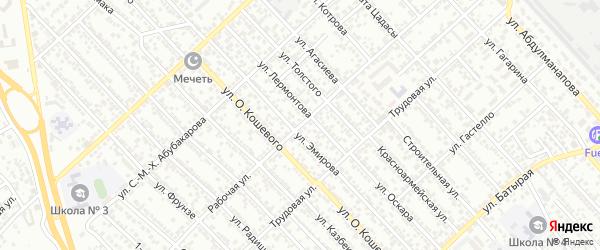 Рабочая улица на карте Южного микрорайона с номерами домов