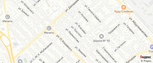 Улица Л.Толстого на карте Каспийска с номерами домов