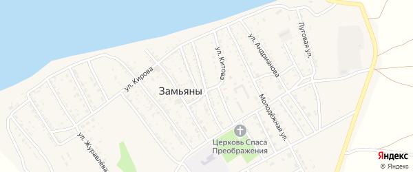 Улица Борисова на карте села Замьяны с номерами домов