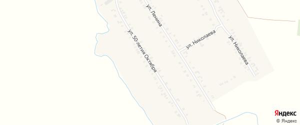 Улица 50 лет Октября на карте деревни Старое Котяково с номерами домов