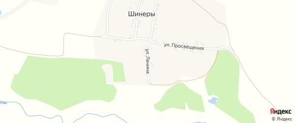 Улица Ленина на карте села Шинеры с номерами домов