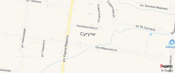 Дачный переулок на карте села Сугуты с номерами домов