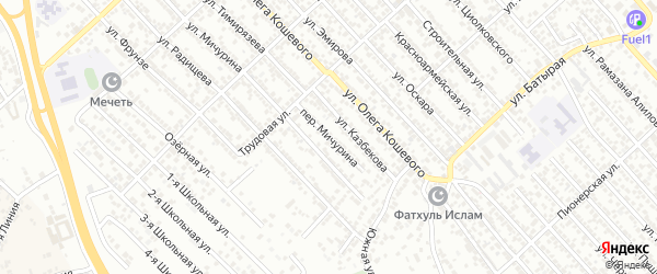 Переулок Мичурина на карте Каспийска с номерами домов