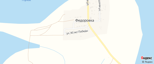 Улица 40 лет Победы на карте села Федоровки с номерами домов