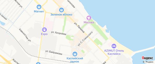 СНТ Авангард 2 на карте Каспийска с номерами домов