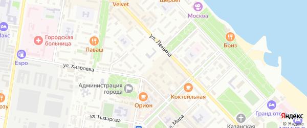 Переулок Алиева на карте Каспийска с номерами домов