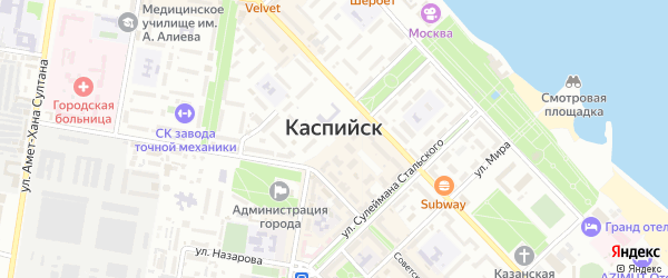 Рассвет СНТ Яблочная улица на карте Каспийска с номерами домов
