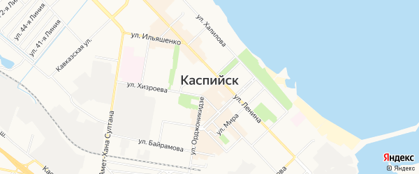 Восход СНТ на карте Каспийска с номерами домов