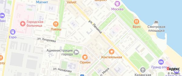 Улица И.Казака на карте Кирпичного поселка с номерами домов
