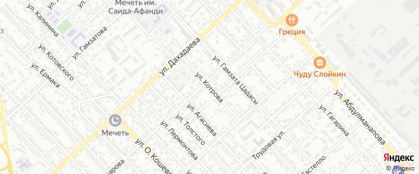Улица Котрова на карте Каспийска с номерами домов