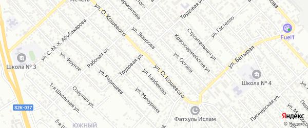 Улица О.Кошевого на карте Каспийска с номерами домов