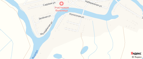 Звездная улица на карте Вольного села с номерами домов