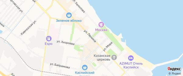 Строитель СНТ на карте Каспийска с номерами домов