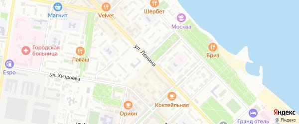 Дачный переулок на карте Каспийска с номерами домов