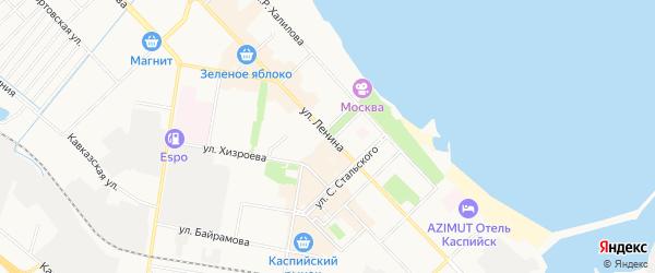 Карта Кирпичного поселка города Каспийска в Дагестане с улицами и номерами домов
