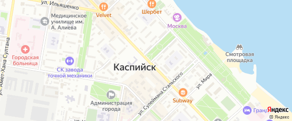Улица Байрамова на карте Каспийска с номерами домов