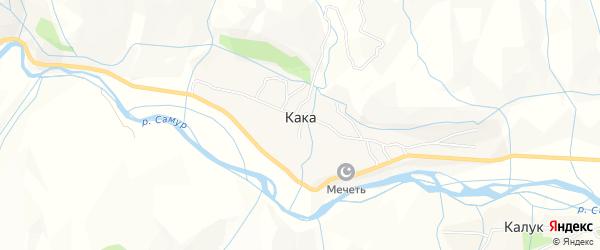 Карта села Каки в Дагестане с улицами и номерами домов