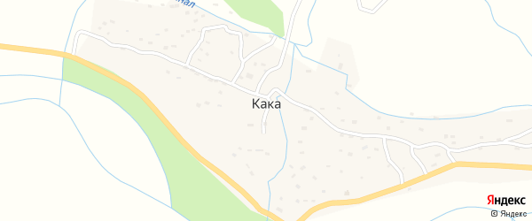 Улица Азизова К. на карте села Каки с номерами домов