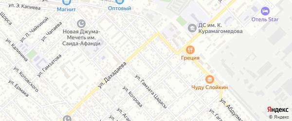 Переулок Кирова на карте Каспийска с номерами домов