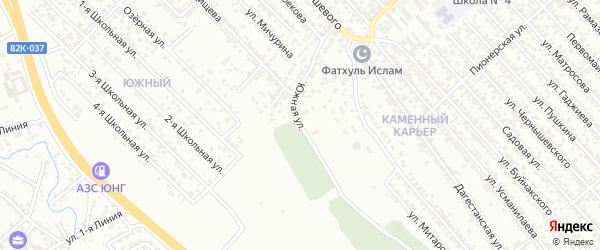 Южная улица на карте Каспийска с номерами домов