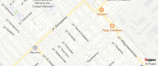 Каспийский переулок на карте Каспийска с номерами домов