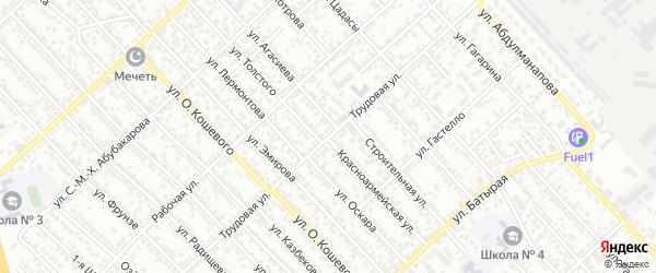 Трудовая улица на карте Каспийска с номерами домов