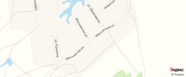 Московская улица на карте деревни Тиньговатово с номерами домов