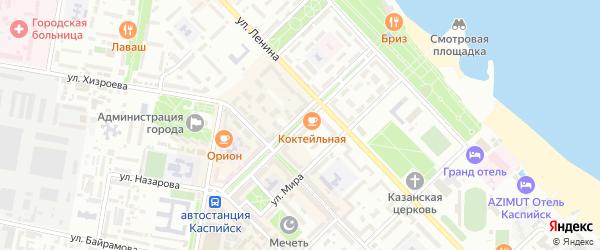 Улица С.Стальского на карте Каспийска с номерами домов