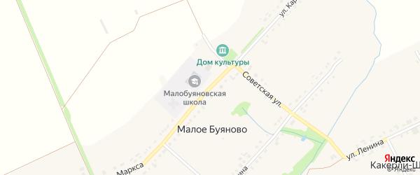 Улица Карла Маркса на карте деревни Малое Буяново с номерами домов
