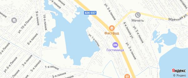 Школьная 1-я улица на карте Южного микрорайона с номерами домов