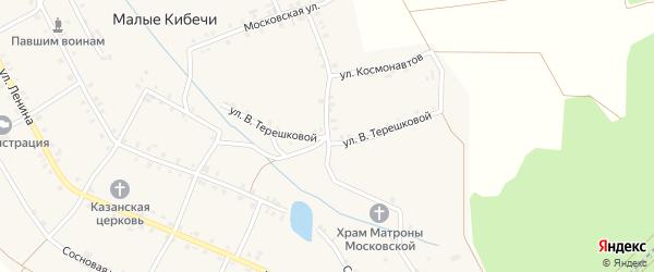Улица Терешковой на карте села Малые Кибечи с номерами домов