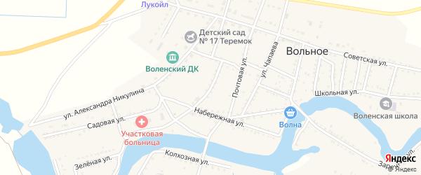 Свободная улица на карте Вольного села с номерами домов