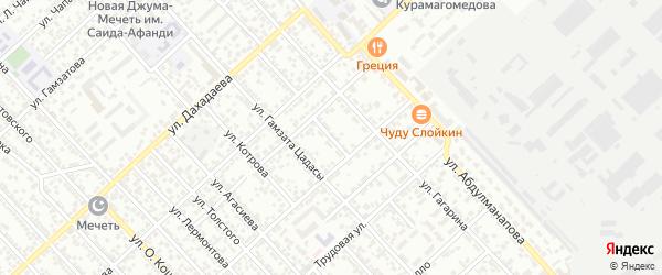 Переулок Абачараева на карте Каспийска с номерами домов