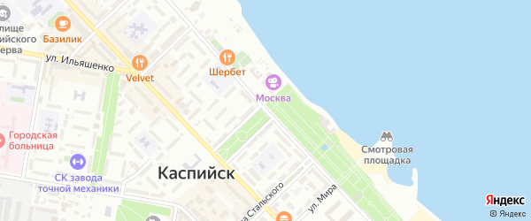 Улица М.Халилова на карте Каспийска с номерами домов