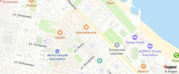 Улица Мира на карте Каспийска с номерами домов