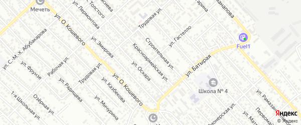 Красноармейская улица на карте Каспийска с номерами домов