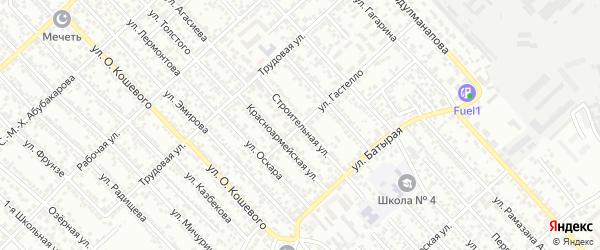 Строительная улица на карте Каспийска с номерами домов