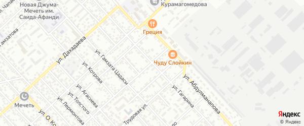 Улица Гагарина на карте Каспийска с номерами домов