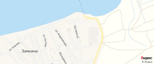 Луговая улица на карте села Замьяны с номерами домов