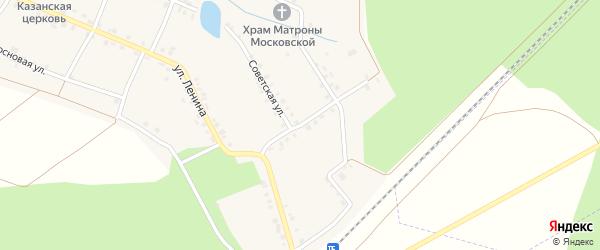 Железнодорожная улица на карте села Малые Кибечи с номерами домов