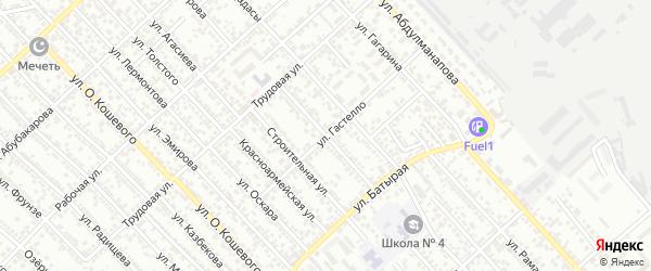 Улица Циолковского на карте Каспийска с номерами домов