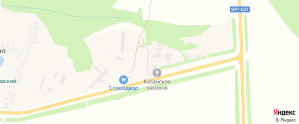 Лесная улица на карте деревни Малое Камаево с номерами домов