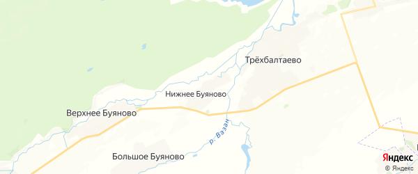 Карта Трехбалтаевского сельского поселения республики Чувашия с районами, улицами и номерами домов
