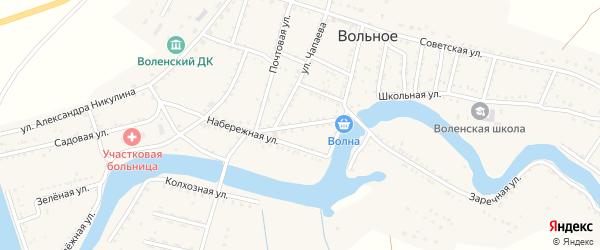 Улица Жумажана Айтимова на карте Вольного села с номерами домов